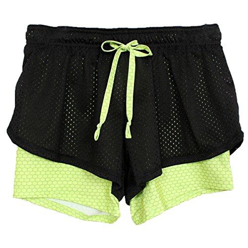 Bee Da Ladia Sportivo Donna L'esecuzione Estivi Mesh A08 Traspiranti Yoga Di Green Atletico In Abbigliamento Pantaloncini Ecyc xXwq15Zn