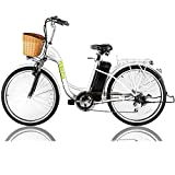 NAKTO 26' 250W Cargo Electric Bicycle Sporting Shimano 6 Speed Gear EBike...