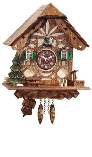 Framework Design Miniature Quartz Pendulum Cuckoo Clock, 9 Inch