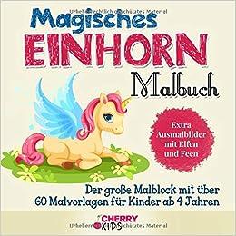 Magisches Einhorn Malbuch Der Große Malblock Mit über 60