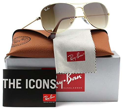 Ray-Ban RB3362 Cockpit Sunglasses Shiny Gold w/Brown Gradient (001/51) 3362 00151 59mm - Ban Polarized Ray 3362