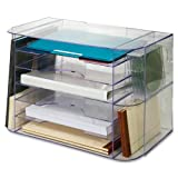 Sparco Jumbo Desk Sorter -12.3-Inch Heightx18.1-Inch Width x 10-Inch Depth -2 Pocket(s) -Clear
