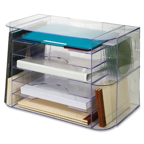 Sparco Jumbo Desk Sorter, Letter, 18-1/8 x 10 x 12-1/4 Inches, Clear (SPR86880)