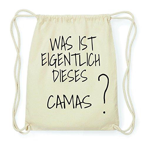 JOllify CAMAS Hipster Turnbeutel Tasche Rucksack aus Baumwolle - Farbe: natur Design: Was ist eigentlich