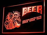 Beer Helping White Guys Dance Since 1842 Led Light Sign