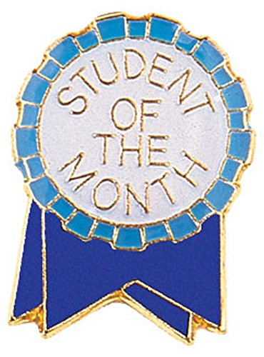 Student of The Month Ribbon Lapel Pin - Pins Emblems