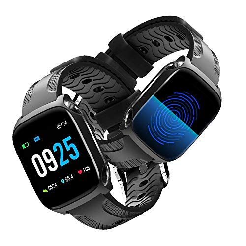 Fitness Activity Tracker Smart Watch, Touch Screen Heart Rate Monitor,  Waterproof Smart Fitness Band with Step Counter, Calorie Counter, Pedometer