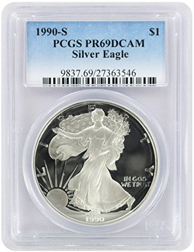 1990 S American Silver Eagle Dollar PR69DCAM PCGS