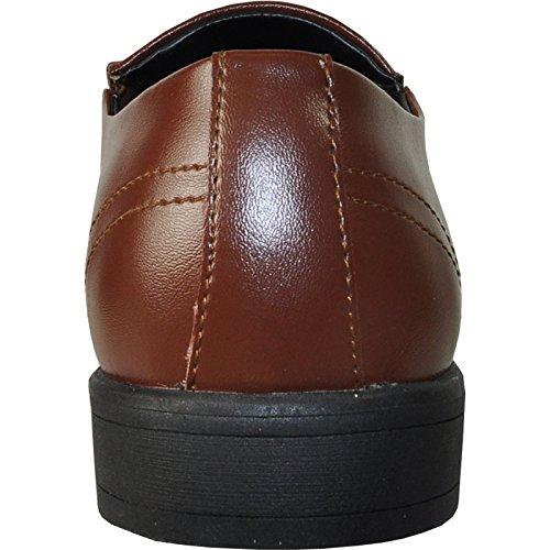 VANGELO Tux-4 Dress Shoe Loafer Formal Tuxedo Prom & Wedding Shoe Brown Matte sBpEsWPnM