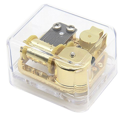 AVESON Unique Transparent Acrylic Wind Up Mechanism Music Box For Christmas Birthday Kids Friends Gift, Melody For Elise