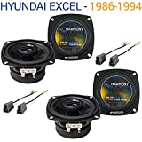 Hyundai Excel 1986-1994 Factory Speaker Replacement Harmony (2) R4 Package New