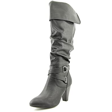 Amazon.com | Rampage Women Ellesandra Dress Boots | Knee-High