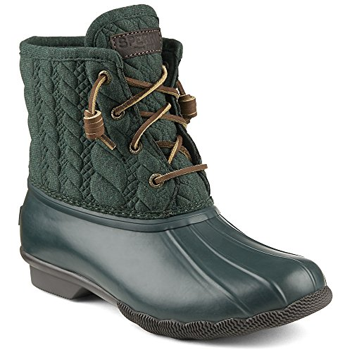 Sperry Sider Neoprene Saltwater Top Rain Boot Rope Womens Green Emboss vqxr5vwSa