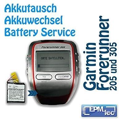 Batería de recambio para la ejecución de reloj GPS Garmin precursor 205/305 reacondicionamiento servicio de recambio: Amazon.es: Electrónica