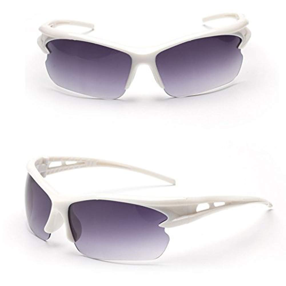 White /& Grey Mens Polarized UV400 Glasses Aviator Driving Goggles Outdoor Cycling Sunglasses