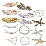 SuPoo 15 Pack Hair Barrette Leaf Starfish Moon Hair Pins Hair Clip For Women and Girls