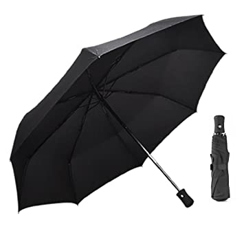 ff8589489e66 ANSLYQA Travel Umbrella Windproof Waterproof Lightweight Compact Folding  Umbrellas with 8 Ribs Auto Open Close for Men Women and Kids,