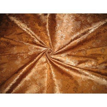 Amazon com: Silk Brocade fabric Golden Brown color BRO160[3