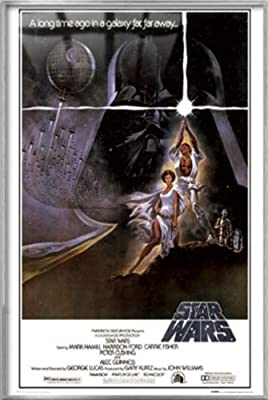 "Star Wars: Episode IV - A New Hope - Framed Movie Poster / Print (Style A) (Size: 24"" x 36"")"