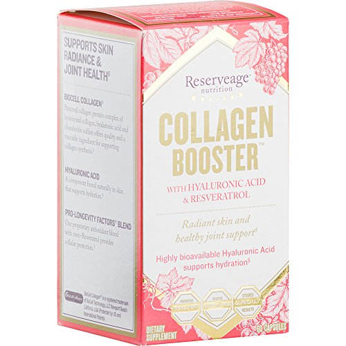 Reserveage - Collagen Booster with Resveratrol, Helps Support Radiant and Healthy Skin, 60 vegetarian capsules