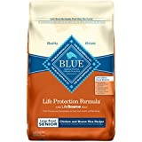 Blue Buffalo Life Protection Formula Natural Senior Large Breed Dry Dog Food, Chicken and Brown Rice 30-lb
