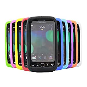 iTALKonline Blackberry 9860Torch SoftSkin 10unidades rojo y morado azul claro verde oscuro azul verde, negro, blanco y amarillo naranja rosa carcasa Skin–Carcasa de silicona con 10protectores de pantalla