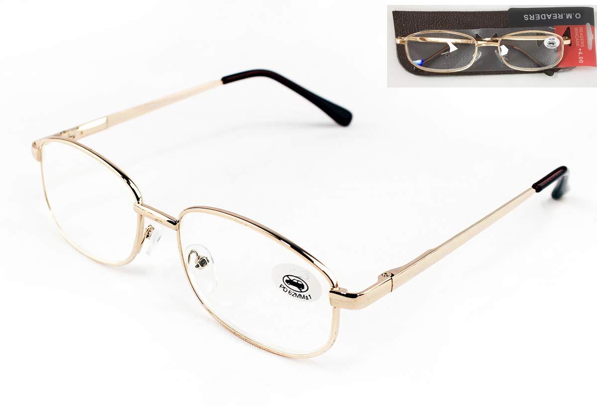 Gafas de Hombre y Mujer Unisex con Montura Fina Bisagras Standard Graduadas Dioptr/ías +1.00 hasta +4.00 Ver de Cerca +2.5 Pack de 4 Gafas de Lectura Vista Cansada Presbicia Para Leer