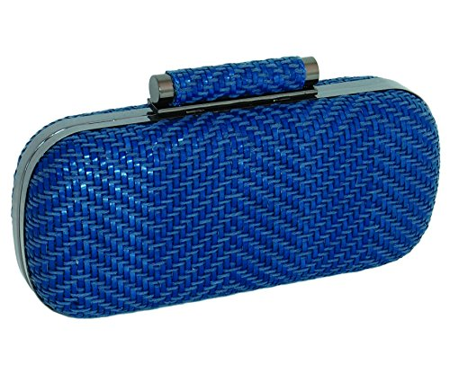 Inge Christopher Catalina Minaudiere Woven Clutch (Blue) by Inge Christopher