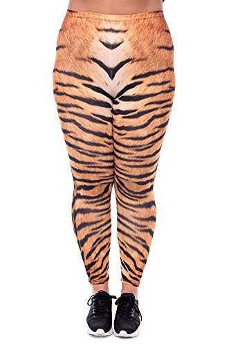 World of Leggings Tiger Print Leggings - Plus Size -
