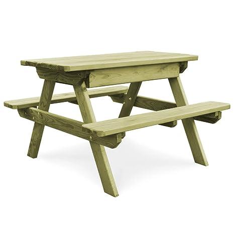ghuanton Table de Pique-Nique avec bancs Bois de pin ...