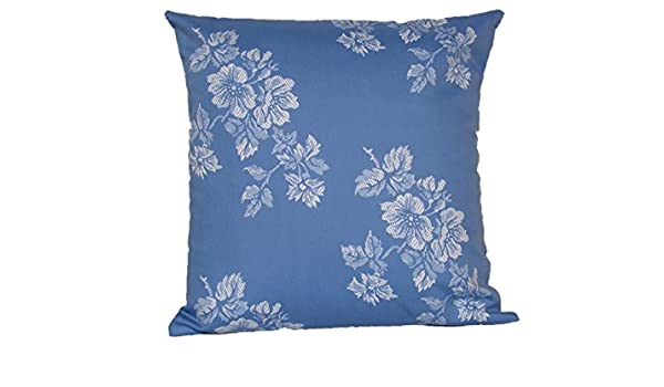 Funda cojin flores Azul - cojin flores - funda cojin azul ...