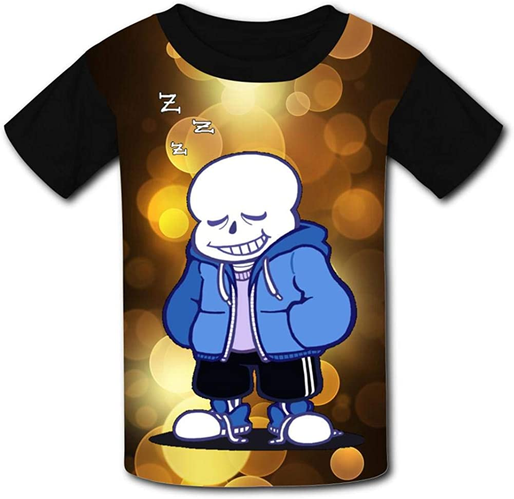 Sleep Under-Tale-Sans Kids T-Shirts Short Sleeve Tees Summer Tops for Youth//Boys//Girls