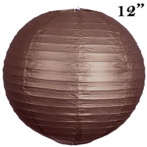 BalsaCircle 12 pcs Chocolate Brown 12-Inch tall Paper