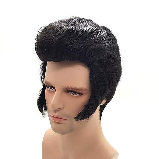 Elvis Presley Peinado Pelucas Cortas Para Hombre Cosplay Natural Peluca De Pelo Sintético Beauty