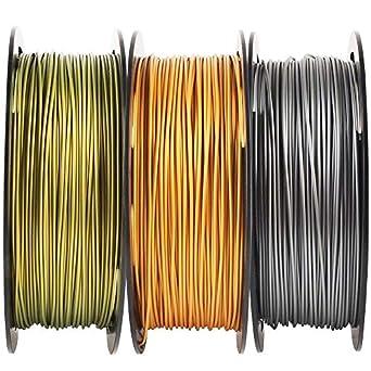 Paquete de filamentos de impresora 3D de color dorado ...