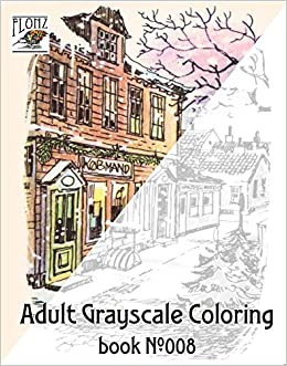 Adult Grayscale Coloring Book Christmas Scenes Winter Santa Vintage Design Aage Dam For Flonz 9469788800089 Amazon Books