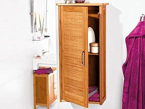 Miomare mobiletto da bagno in bambù amazon casa e cucina
