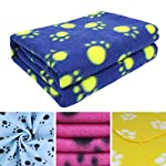 AK KYC 6 pack Mixed Puppy Blanket Cushion Dog Cat Fleece Blankets Pet Sleep Mat Pad Bed Cover with Paw Print Kitten Soft…