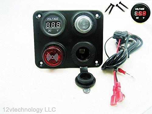 (Battery Bank Monitor Minder with Low Voltage Discharge Alarm 12 Volt Marine RV #BTM3)