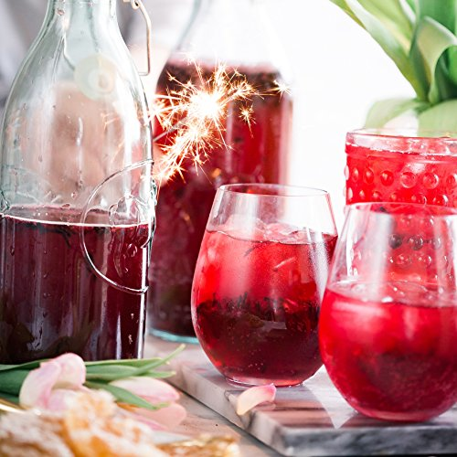 Poolside Unbreakable Stemless Plastic Wine Glasses ~ Elegant Durable Reusable Glassware ~ Sophisticated Design ~ Shatterproof Dishwasher Safe Indoor/Outdoor Barware ~ 100% Tritan ~ Set of 4~16 oz by POOLSIDE CREATIONS WOULDN'T YOU RATHER BE POOLSIDE? (Image #3)'