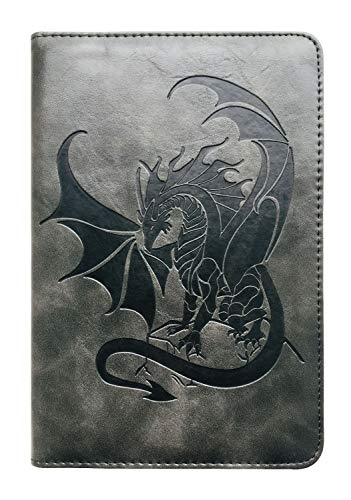 - Black Dragon Journal by SohoSpark, Writing Journal, Personal Diary, Lined Journal, Travel, 6x8.75 Notebook, Writers Notebook, Faux Leather, Refillable, Fountain Pen Safe, Lay Flat Binding