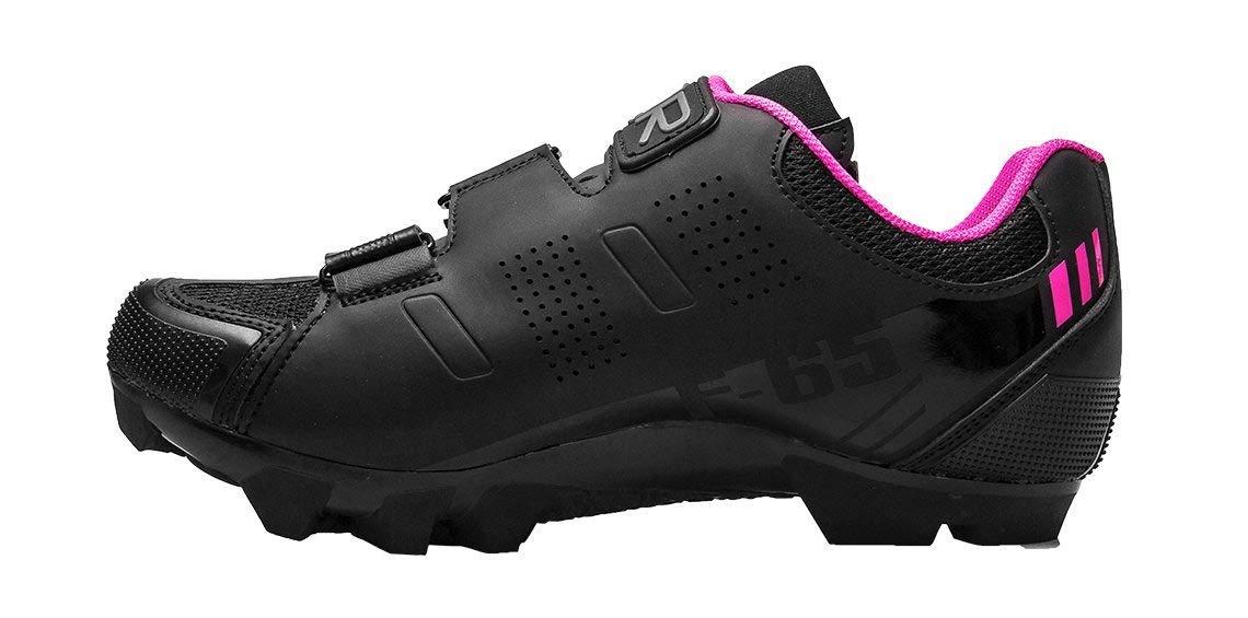 FLR F-65 Damen MTB Schuhe Schuhe Schuhe Fahrradschuhe Shimano SPD Klickschuhe schwarz Rosa Ratschen- Klettverschluss mit Netzeinsätzen b3a79f