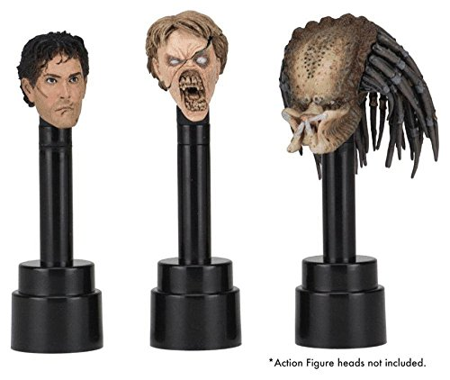 NECA Action Figure Head Display Stands black (3) Other figures accessories