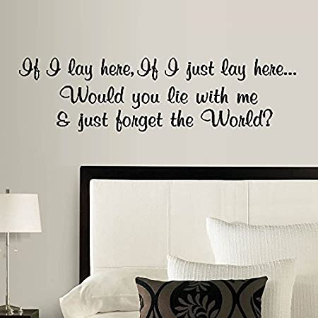 "IF I LAY HERE, IF I JUST LAY HERE #3: SNOW PATROL ~ WALL DECAL, HOME DECOR 8"" X 30"""
