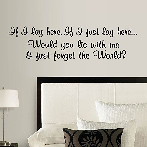 if i lay here wall decal - 5