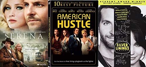 Bradley Cooper and Jennifer Lawrence Triple Feature - Silver Linings Playbook, Serena & American Hustle 3-DVD Bundle