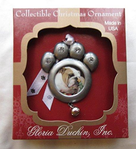 Pewter Christmas Bells Ornament (Gloria Duchin Photo Holder Ornament - Paw)