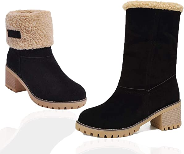 Warm Winter Snow Boots with Fur Lined