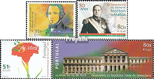 Revolution 1999 - Portugal 2330,2332,2335-2336 (Complete.Issue.) 1999 Writers, Matos, Revolution (Stamps for Collectors)
