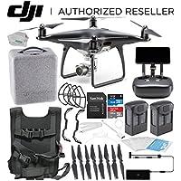 DJI Phantom 4 PRO+ PLUS Obsidian Edition Drone Quadcopter Includes Display (Black) Essentials Travel Bundle